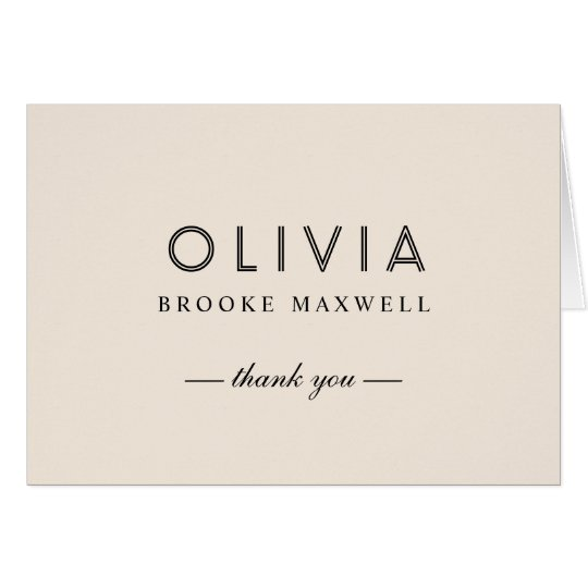 Folded Thank You Note Cards | Warm White