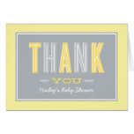 Folded Thank You Notes | Chic Type Yellow and Grey Note Card