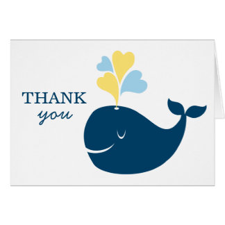 Folded Thank You Notes | Nautical Preppy Whale