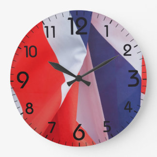 Folded Union Jack UK Flag Clocks