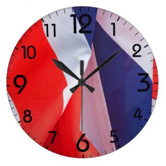 Folded Union Jack UK Flag Large Clock