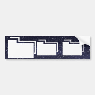Folder Counts Minimal Bumper Sticker