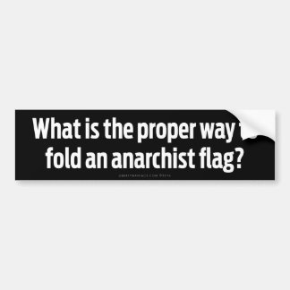Folding Anarchist Flags Bumper Stickers