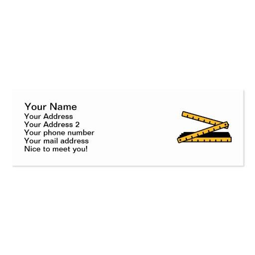 Folding rule yard stick business cards