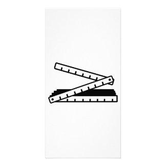 Folding rule yard stick personalised photo card