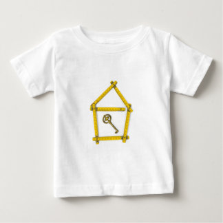 folding ruler, house shape and key baby T-Shirt