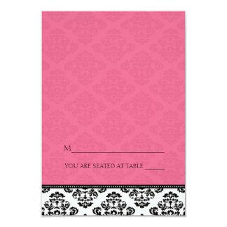 Folding Tent Honeysuckle Damask Place Cards 9 Cm X 13 Cm Invitation Card