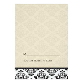 Folding Tent Ivory Damask Place Cards 9 Cm X 13 Cm Invitation Card