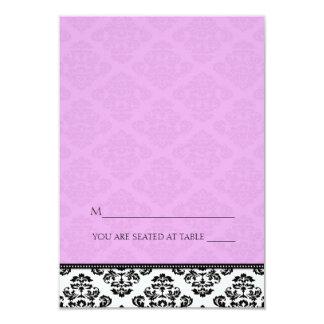 Folding Tent Plum Damask Place Cards 9 Cm X 13 Cm Invitation Card