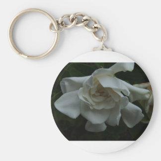 Folds of Ivory Basic Round Button Key Ring