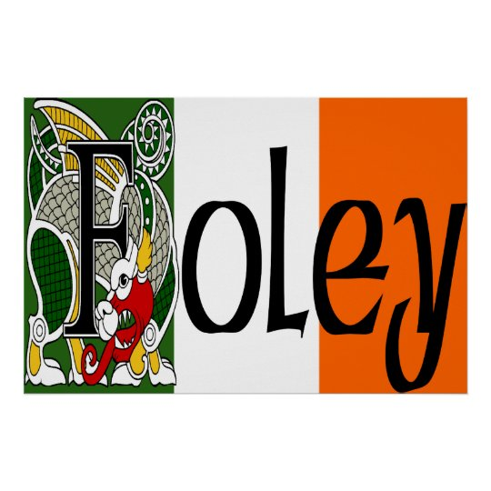 Foley Celtic Dragon Print