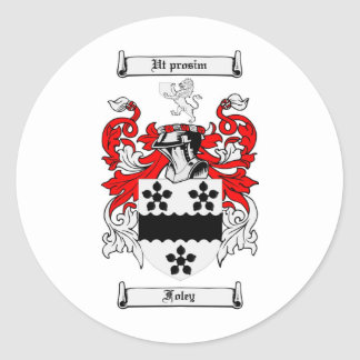 FOLEY FAMILY CREST -  FOLEY COAT OF ARMS STICKERS