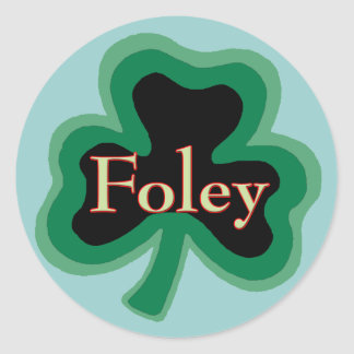 Foley Family Name Round Sticker