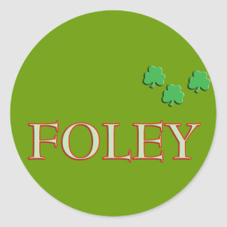 Foley Family Name Round Stickers