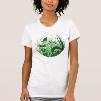 Foliage 3 Shades Circle Green T Shirt