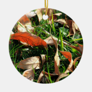 Foliage and Grass Christmas Ornaments
