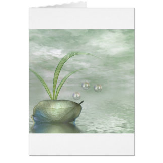 Foliage & Bubbles Card