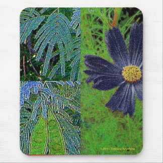 FOLIAGE COLLAGE MOUSE PAD