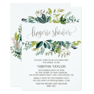 Foliage Lingerie Shower Card