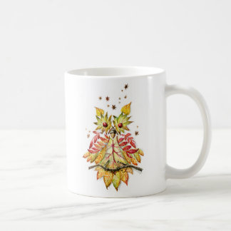 Foliage owl coffee mug