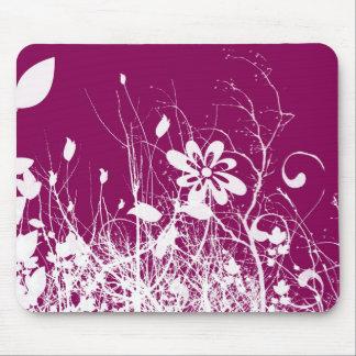 Foliage Pink Mouse Pads