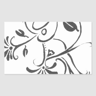 Foliage Rectangular Sticker