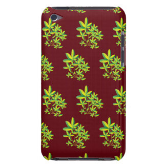foliage red barely there iPod case