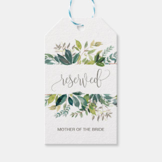 Foliage Reserved Chair Tags