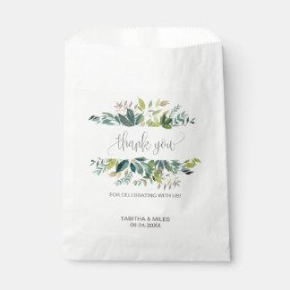 Foliage Thank You Favour Bags