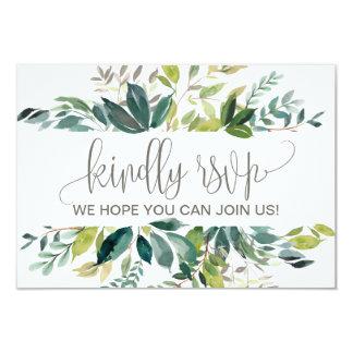 Foliage Wedding Website RSVP Card