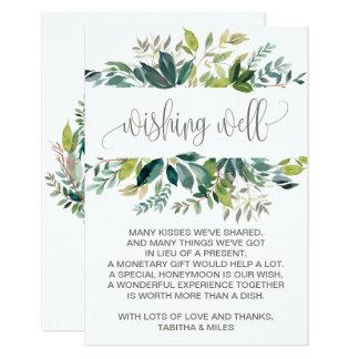 Foliage Wedding Wishing Well Card