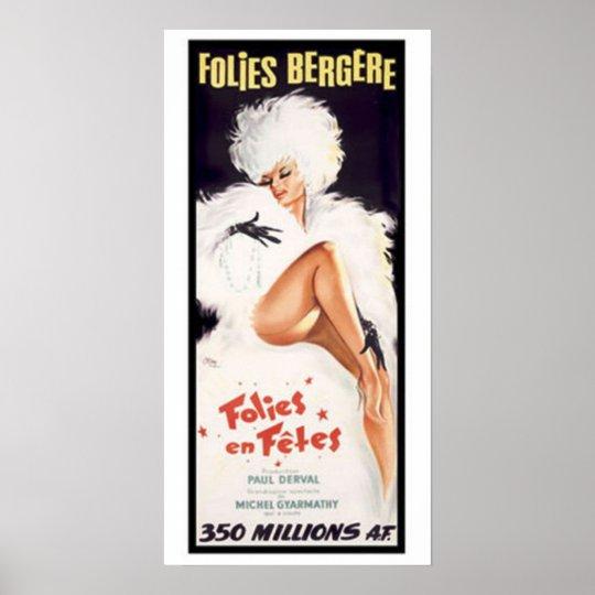 Folies-Bergere, Cabaret Dance Theatre Poster
