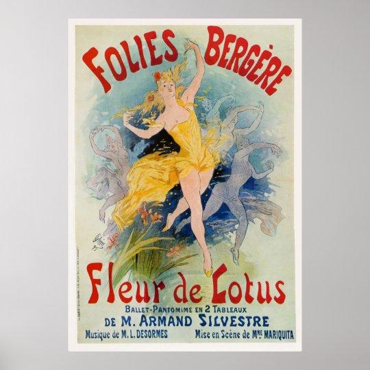 """Folies Bergère """"Fleur de Lotus"""" Advertisement 1893"""