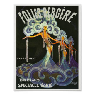 Folies Bergère French cabaret Poster