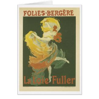 Folies-Bergere, Jules Cheret Card