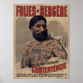 Folies-Bergère Le Capitaine Costentenus Poster