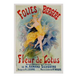 Folies Bergere Poster by Jules Cheret