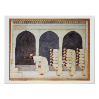 Folio.38a A Mogul prince in a mosque leading Frida Poster