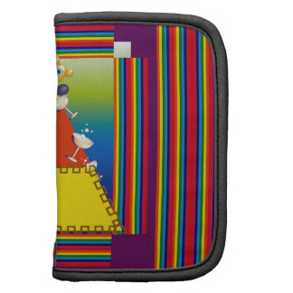 Folio Planner with Abstract Candy Corn Design