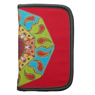folio with mandala red planners