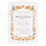 Folk Art Autumn Foliage Housewarming Party 13 Cm X 18 Cm Invitation Card