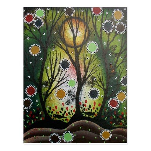 Folk Art_By Lori Everett, Day Of The Dead,Tree Art Postcards