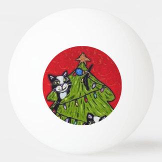 Folk Art Cats Christmas Tree