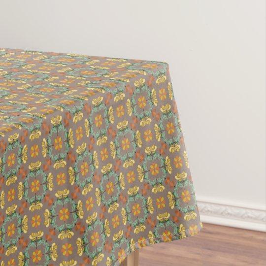 Folk Art Chrysanthemum Autumn Pattern Tablecloth