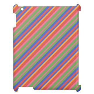 Folk Art Collection Bright Stripes iPad Savvy Case Cover For The iPad 2 3 4