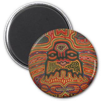 Folk Art Costa Rica 6 Cm Round Magnet