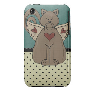 Folk Art Country Cat iPhone 3 Case-Mate Cases
