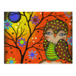 Folk Art Day Of The Dead By Lori Everett Postcard