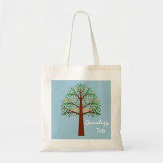Folk Art Family Tree Genealogy Tote Budget Tote Bag