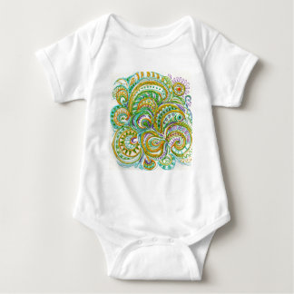 Folk Art Fantasy Pattern T-shirt